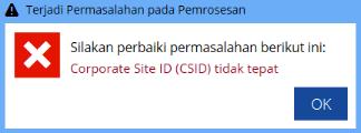 CSID Tidak Tepat